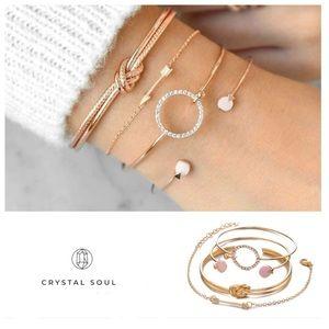Jewelry - Just In🎉Beautiful 4 Pcs/ Set Classic Arrow Knot